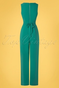 Yumi 32945 Wrap Jumpsuit Pockets Green 20200204 005W
