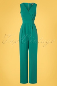Yumi 32945 Wrap Jumpsuit Pockets Green 20200204 002W