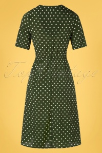 Yumi 32948 Aline Dress Spot Tie Knot Green 20200204 011W