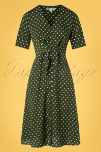 Yumi 32948 Aline Dress Spot Tie Knot Green 20200204 002W