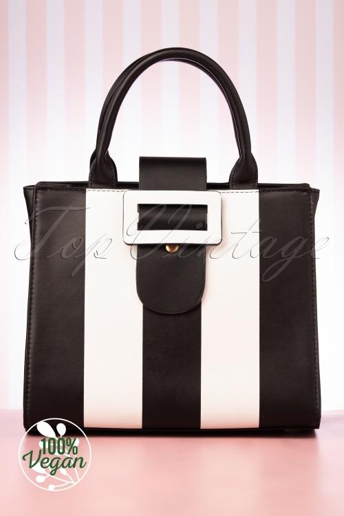 Lola Ramona 30259 Handbag Vivi Stripes Black White 02052020 007 W