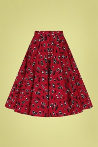 Bunny 32572 Alison Swing Skirt Red 022LW