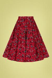 Bunny 32572 Alison Swing Skirt Red 022LW