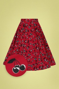 Bunny 32572 Alison Swing Skirt Red 021LZ