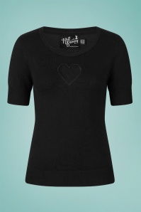 Bunny 32585 Hearts Top Black 020LW