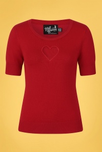 Bunny 32586 Hearts Top Red 020LW