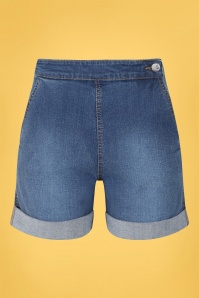 50s Nash Denim Shorts in Blue