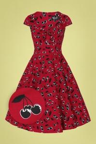 Bunny 32560 Alison Swing Dress Red 022LZ