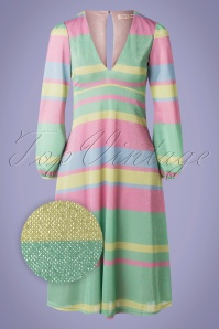 Traffic People 70s Mama Mia Glitter Dress in Multi