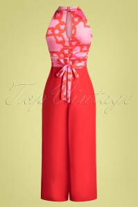 Traffic People 32637 Jumpsuit Divided Red Pink Neckholder 02062020 005W