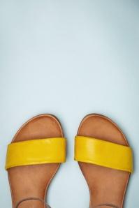 Miz Mooz 32065 Sandals Yellow Brown Leather Mustard 200205 013