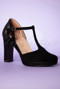 Tamaris 32339 Black Tstrap Shoes Heels 200204 005 W