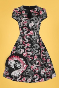 Bunny 32550 Dragon Swing Dress Black 020LZ