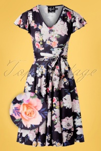 Hell Bunny 32557 Swingdress Navy Floral Tussy Mussy 02062020 003Z