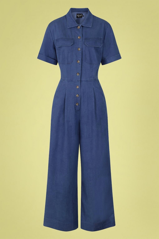 Stark Boilersuit Années 50 en Bleu Jean