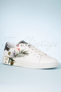 Ted Baker 30986 Sneaker White Silver Flowers 200205 006 W