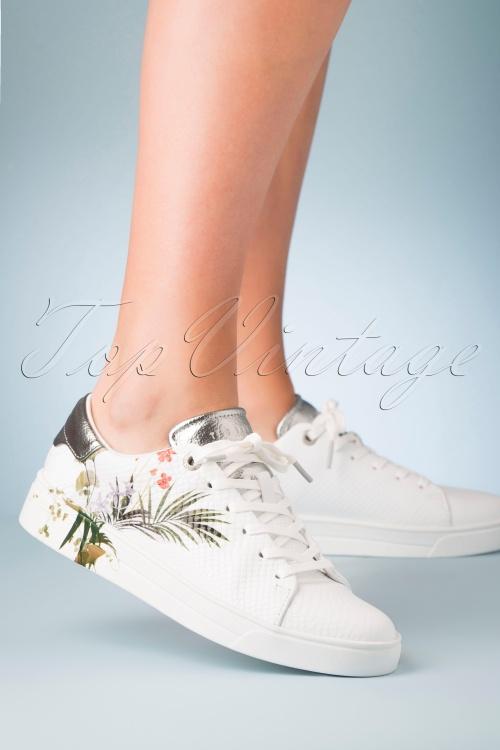 Ted Baker 30986 Sneaker White Silver 060220 005 W