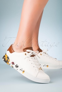 Ted Baker 70s Wenil Floral Sneakers in White