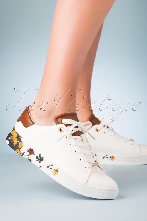 Ted Baker 30987 Sneaker In White Brown 060220 002 W