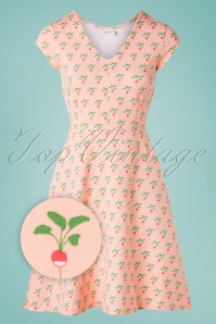 Froy & Dind 60s Marilyn Radish Dress in Peach Pink