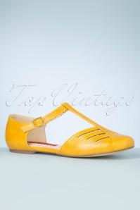 Bait Footwear 33456 Edie Mustard Flats Tstrap 200205 007 W