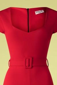 Vintage Chic 33347 Jumpsuit Red 02062020 004 V