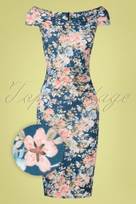 Vintage Chic 33483 Pencildress Bodycon Floral 02062020 002Z