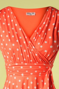 Vintage Chic 33358 Swingdress Orange Polkadot 02062020 004 V