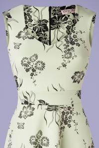 Vintage Chic 33385 Swingdress Green Veronique Floral 02062020 003V