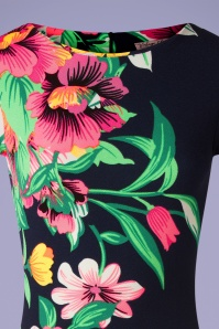 Vintage Chic 33386 Pencildress Aloha Neon Floral 02062020 002 V