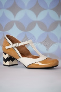 Nemonic 32891 Camel T strap shoes 02032020 003 W