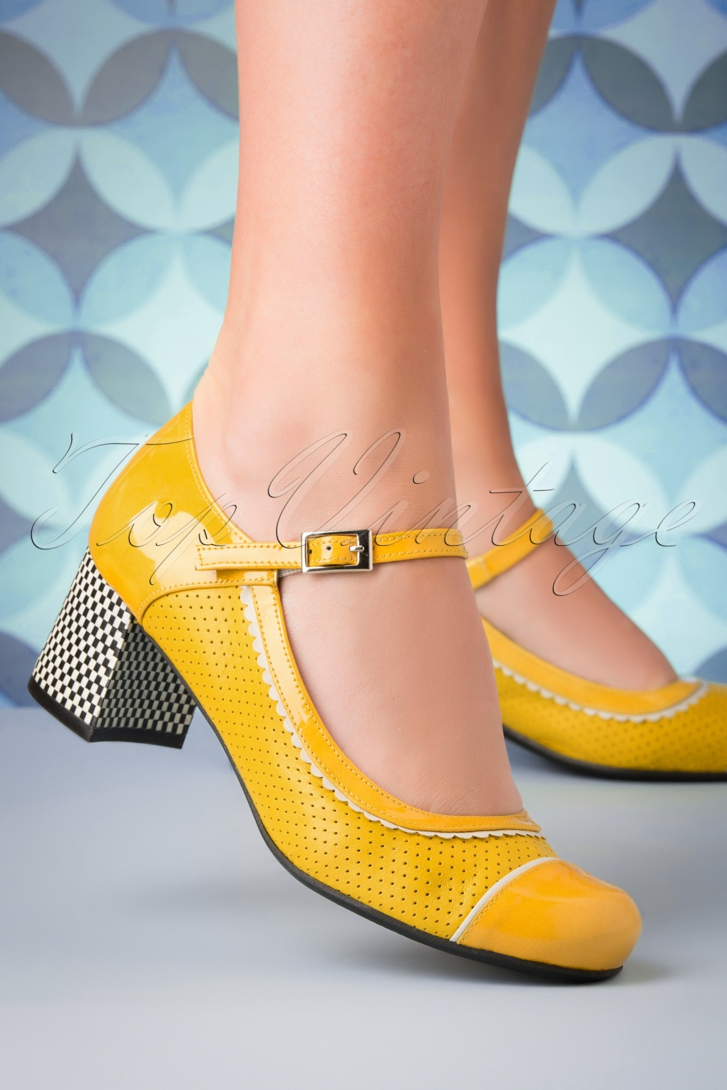 1960s Style Dresses, Clothing, Shoes UK 60s Vintage Piso Leather Pumps in Yellow £75.89 AT vintagedancer.com