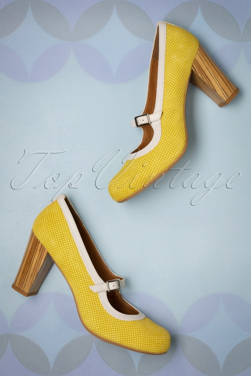 60s Topos Suede Mary Jane Pumps in