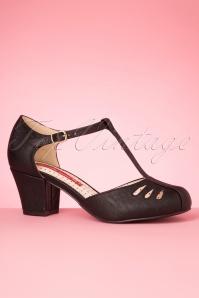Bait Footwear 33462 Robbie Black Matte Heels Tstrap 200205 006W