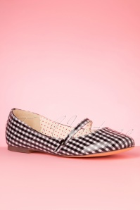 Bait Footwear 33463 Secret Gingham flats White Black 200205 005W