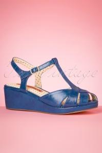 Bait Footwear 33461 Kira Blue Heels Wedges Heels Tstrap 200205 007 W