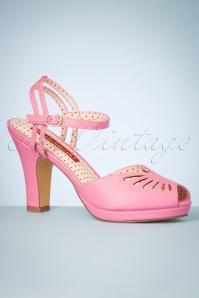 Bait Footwear 33465 Loraine Rosette Heels Pink 200205 008W
