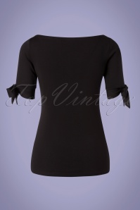 Vixen 33005 Top Cowneck Black Bows 11112019 005 W