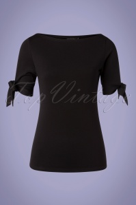 Vixen 33005 Top Cowneck Black Bows 11112019 001 W