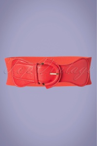 50s Maxine Cinch Stretch Belt in Red