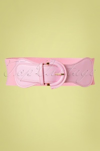 50s Maxine Cinch Stretch Belt in Pink