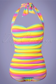 Girl Howdie 50s Iris Frock One Piece Swimsuit in Multi