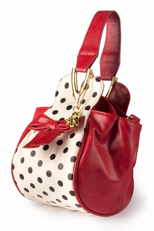 Boatie Red White Black Polka Dot handbag shoulder bag
