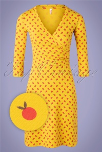 60s Pfadfinderehrenwort Dress in Orange Picking Yellow