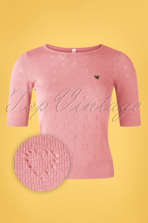 Blutsgeschwister 31935 Pully Roundneck Pink Hearts 10022020 002Z