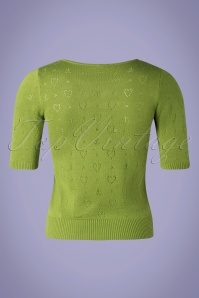 Blutsgeschwister 31934 Pully Roundneck Green Hearts 10022020 007W
