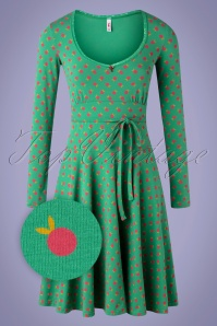 Blutsgeschwister 60s Ode To The Woods Dress in Apple Picking Green