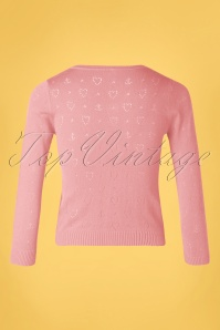 Blutsgeschwister 31877 Cardigan Pink Roundneck Hearts 10022020 004W
