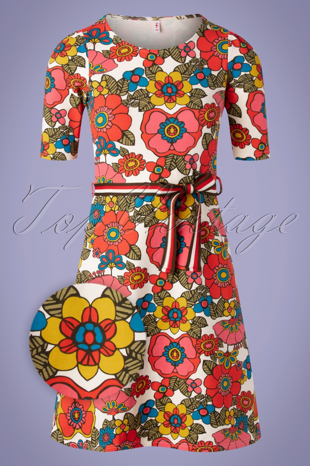500 Vintage Style Dresses for Sale | Vintage Inspired Dresses 60s Caravan Of Love Dress in Shower Flower Multi £78.92 AT vintagedancer.com