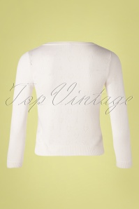 Blutsgeschwister 31881 Cardigan White Roundneck Hearts 02102020 008W